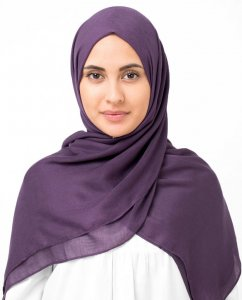 Berry Conserve - Purple Viscose Hijab Sjal InEssence Ayisah 5HA44a