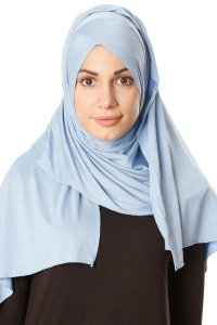 Betul - Light Blue 1X Jersey Hijab - Ecardin