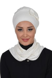 Bianca - Creme Cotton Turban