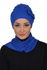 Bianca - Blue Cotton Turban