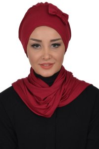 Bianca - Bordeaux Cotton Turban