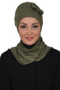 Bianca - Khaki Cotton Turban