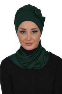 Bianca - Dark Green Cotton Turban
