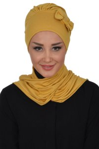 Bianca - Mustard Cotton Turban