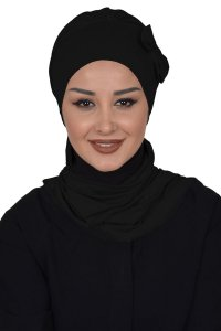Bianca - Black Cotton Turban