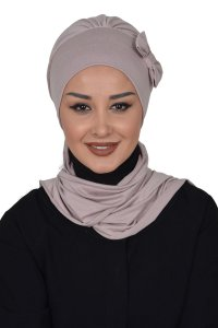 Bianca - Taupe Cotton Turban