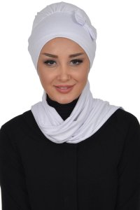 Bianca - White Cotton Turban