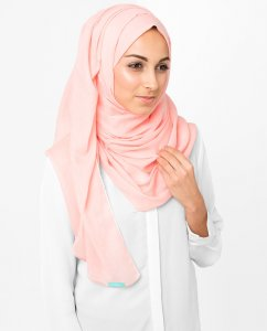 Blossom Rosa Bomull Voile Hijab 5TA6a