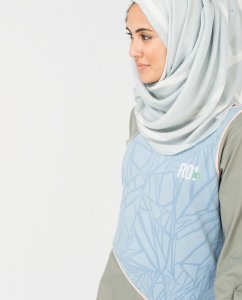 Blueline - Light Blue Viscose Hijab 5A162