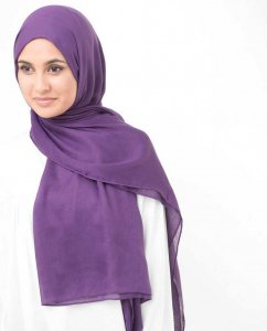 Bright Violet Purple Viscose Hijab InEssence 5HA61b