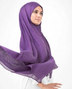 Bright Violet Purple Viscose Hijab InEssence 5HA61c