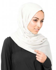 Bright White Vit Bomull Voile Hijab InEssence 5TA60a