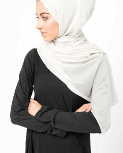 Bright White White Cotton Voile Hijab InEssence 5TA60c