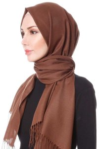 Buse Light Brown Hijab Sehr-i Sal 400123b