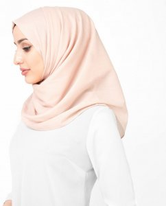 Cameo Rose - Gammelrosa Bomull Voile Hijab Sjal InEssence Ayisah 5TA47b