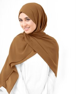 Cathay Spice Kamelbrun Georgette Hijab 5XA53a