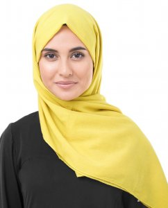 Cellery Senapsgul Bomull Voile Hijab InEssence 5TA66a