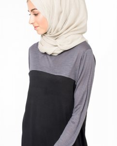 Chateau Grey Chateau Grå Bomull Voile Hijab 5TA3a