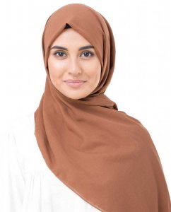 Cinnamon Stick Rost Bomull Voile Hijab InEssence Sjal 5TA75a
