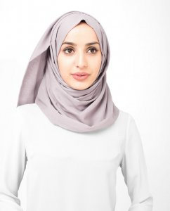 Deauville Mauve - Rose Bomull Voile Hijab Sjal InEssence Ayisah 5TA49a