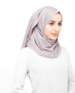 Deauville Mauve - Rose Bomull Voile Hijab Sjal InEssence Ayisah 5TA49b