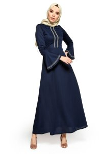 Deste - Navy Blue Dress - Miss Halima