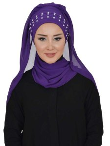 Diana Purple Practical Hijab Ayse Turban 326208b