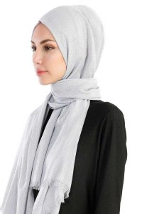Dilsad Grey Hijab Madame Polo 130020-2