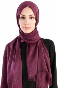 Dilsad Purple Hijab Madame Polo 130022-1