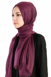 Dilsad Purple Hijab Madame Polo 130022-2