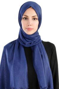 Dilsad Navy Blue Hijab Madame Polo 130021-1
