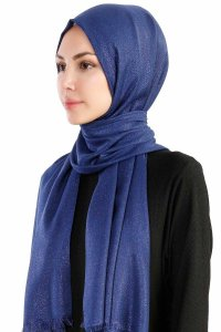 Dilsad Navy Blue Hijab Madame Polo 130021-2