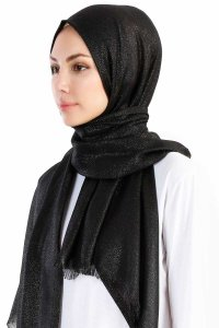 Dilsad Black Hijab Madame Polo 130016-2