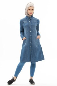 Djamila Denim Modest Klänning Neways 280399a