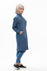 Djamila Denim Modest Klänning Neways 280399b