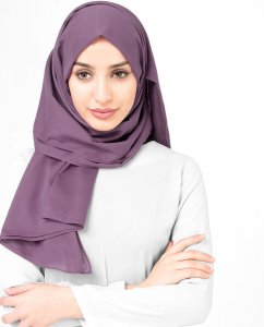 Dusty Lavender - Light Purple Cotton Voile Hijab 5TA90a