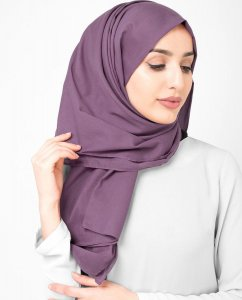 Dusty Lavender - Light Purple Cotton Voile Hijab 5TA90b