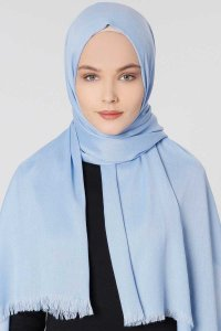 Ece Light Blue Pashmina Hijab Shawl Scarf 400053a
