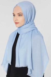 Ece Light Blue Pashmina Hijab Shawl Scarf 400053b