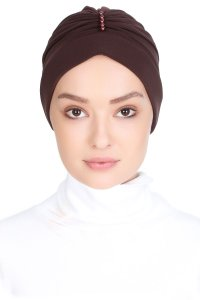 Elvira Brown Turban Vera Bone 120066a