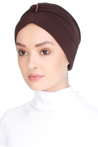 Elvira Brown Turban Vera Bone 120066b