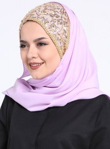 Esmeray Light Purple Chiffon Hijab Gulsoy 300304a