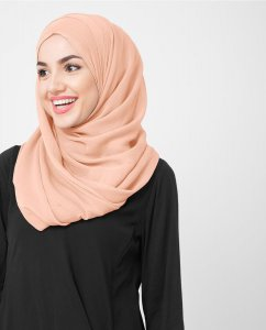 Evening Sand - Dusty Pink Poly Chiffon Hijab 5RA48b