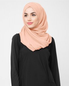 Evening Sand - Dusty Pink Poly Chiffon Hijab 5RA48c