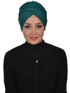 Fiona Dark Green Turban Ayse Turban Modest Fashion Online 329313a