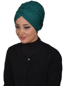 Fiona Dark Green Turban Ayse Turban Modest Fashion Online 329313b