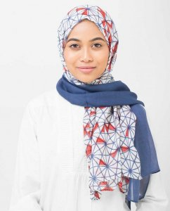 Geo Delight Viscose Hijab - Silk Route 5A407d