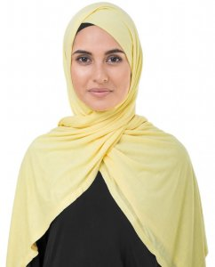 Goldfinch Yellow Viscose Jersey Hijab InEssence 5VA54a