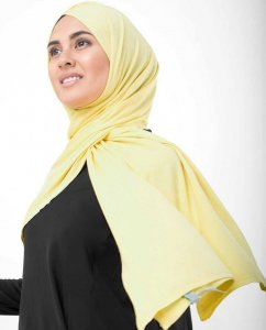 Goldfinch Yellow Viscose Jersey Hijab InEssence 5VA54c