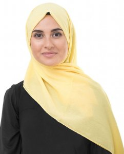 Goldfinch Ljusgul Bomull Voile Hijab InEssence 5TA64a